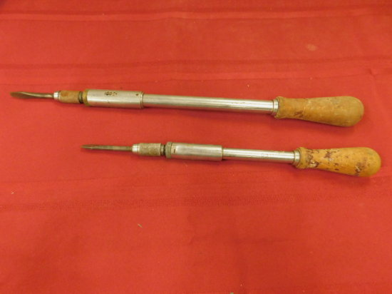 (2) VINTAGE YANKEE RATCHET SCREWDRIVERS