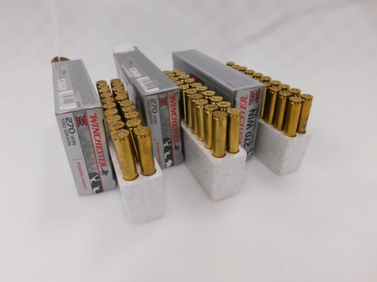 (3) 20 RD BOXES WINCHESTER .270 AMMO
