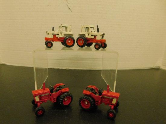 (4) ERTL 1/64 FARM TRACTORS