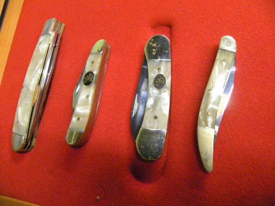 GROUP OF (4) STEEL WARIOR POCKET KNIVES