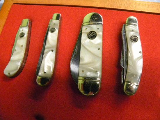 GROUP OF (4) CANYON CREEK POCKET KNIVES