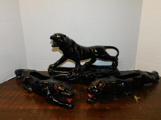 (3) black panther planters