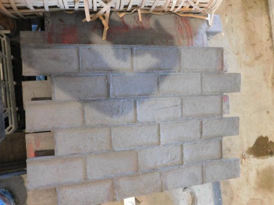 (8) flexible concrete stamps - running bond brick pattern