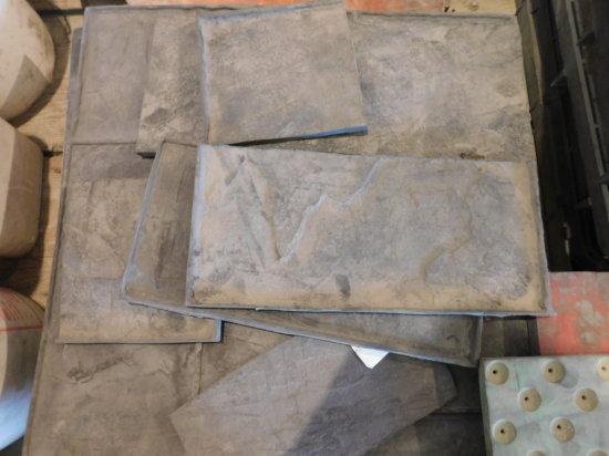 (10) flexible concrete stamps - ashler slate pattern