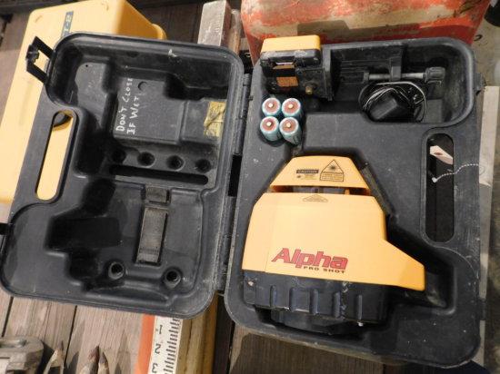 Alpha Pro Shot laser w/ case