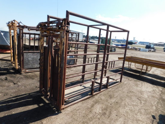 CATTLE CHUTE W/ FOREMOST AUTO HEAD GATE