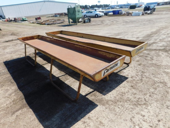 (2) FARM STAR 12FT STEEL FEED BUNKS