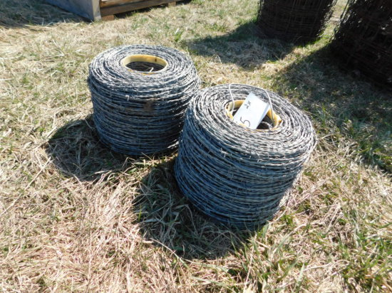 (2) ROLLS OF BARBED WIRE