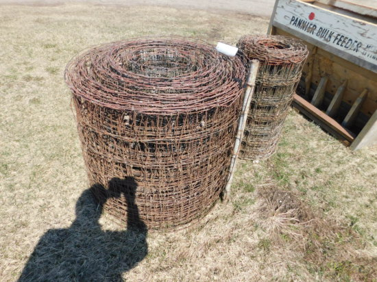 "(2) PARTIAL ROLLS OF 32"" WOVEN WIRE"