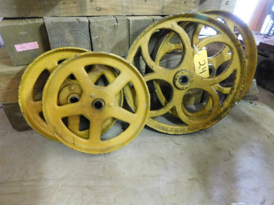 (4) GAS ENGINE CART WHEELS