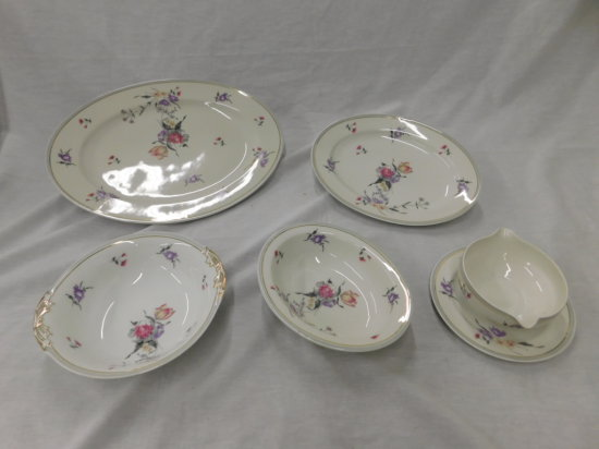 (5) CHARLES AHRENFELDT LIMOGES FRANCE CHINA SIDE DISHES