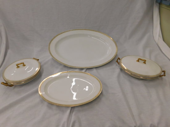 (4) THEODORE HAVILAND LIMOGES FRANCE SIDE DISHES