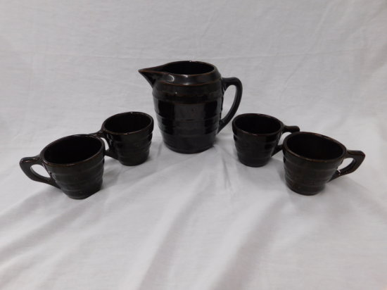MARCREST STONEWARE PITCHER & MUG SET
