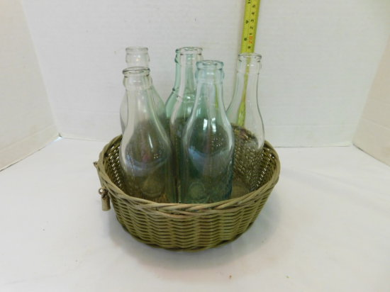 GROUP OF (6) OLD BOTTLES FROM NW IL, SW WISC. & NE IA