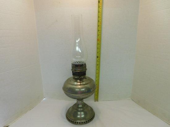 RAYO PEWTER OIL LAMP