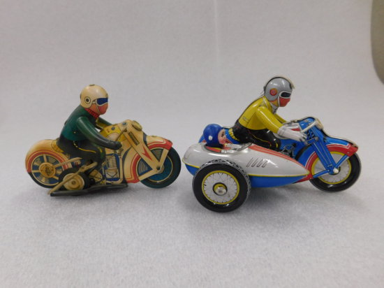 (2) TIN WIND UP MOTORCYCLES