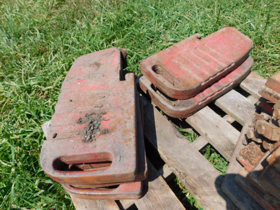 (5) MASSEY FERGUSON SUITCASE WEIGHTS