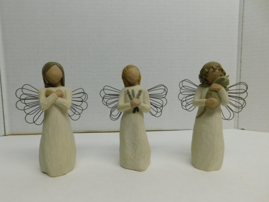 (3) WILLOW TREE FIGURINES W/ BOXES