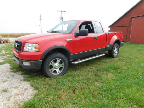 2004 FORD F150 FX4 4X4 EXTENDED CAB PICKUP W/ STEP SIDE BED