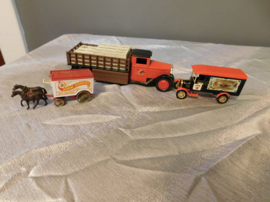 GROUP OF ANHEUSER BUSCH TOY TRUCKS