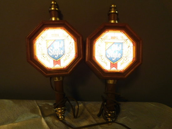 (2) OLD STYLE SCONCE LIGHTS