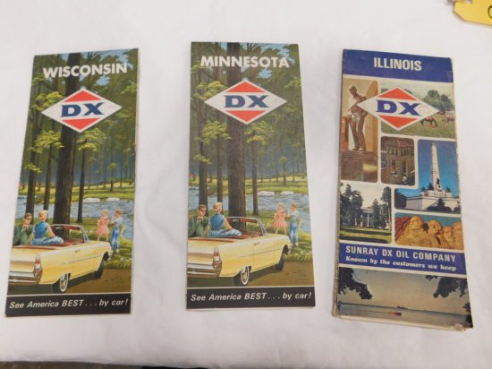 (3) DX GAS STATION MAPS