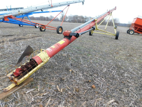 FARM KING 8X51 PTO AUGER - VERY GOOD CONDITION