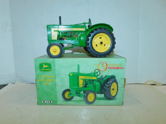 ERTL 1/16 SUMMER FARM TOY SHOW EDITION JOHN DEERE 620 TRACTOR W/ BOX