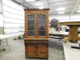 ANTIQUE WOODEN KITCHEN CUPBOARD