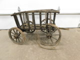 ANTIQUE WOODEN GARDEN / PONY CART