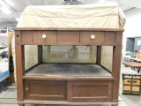 ANTIQUE WOODEN STORE DISPLAY CABINET