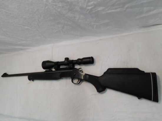 ROSSI MODEL R308 .308 WIN CAL SINGLE SHOT RIFLE W/ HAWKE SPORT HD3-9X50 SCOPE