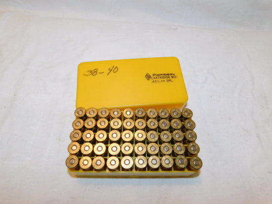 50 RD BOX .38-40 RELOAD AMMO