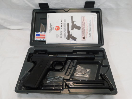 RUGER 22/45 MARK III TARGET MODEL .22 LR CAL PISTOL W/ BOX & EXTRA MAG