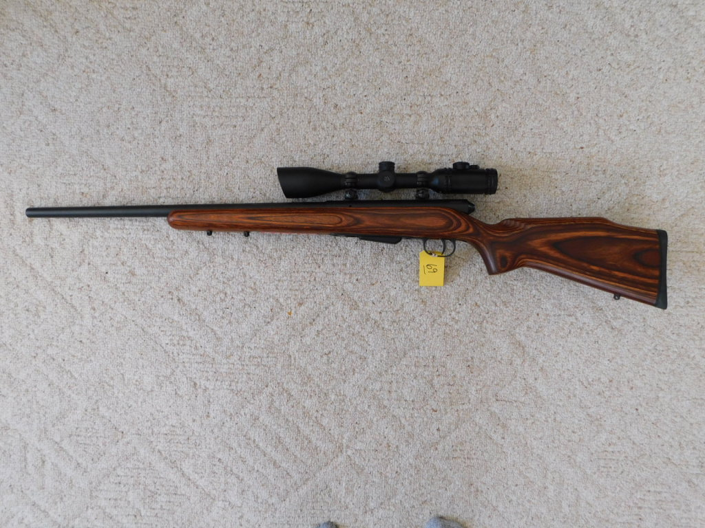 SAVAGE MODEL 25 .223 CAL RIFLE W/ SCOPE MOUNTS - LIKE NEW
