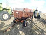 4 1/2FT X 10FT STEEL BARGE BOX ON GEAR W/ HOIST