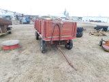 6X10 WOOD BARGE BOX ON JOHN DEERE GEAR W/ HOIST