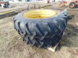(2) 16.9X38 ARMSTRONG TRACTOR TIRES & RIMS