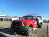 1999 FORD F-450 4X2 TRUCK W/ 12FT FLAT BED & SIDE BOXES