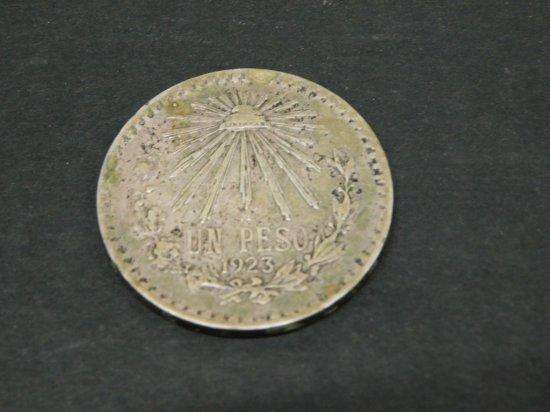 1923 MEXICO .720 SILVER PESO