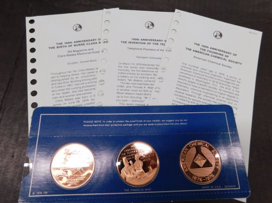 1976 FRANKLIN MINT SPECIAL COMMEMORATIVE FIRST EDITION PROOFS
