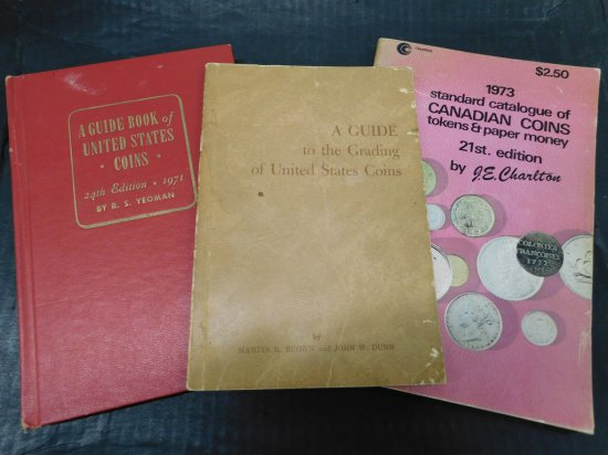 3 VINTAGE COIN BOOKS
