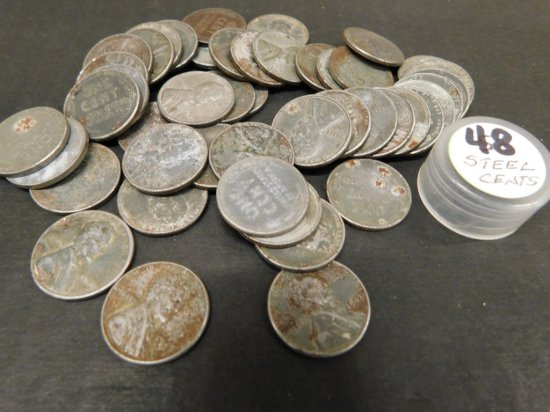 (48) 1943 STEEL WAR CENTS