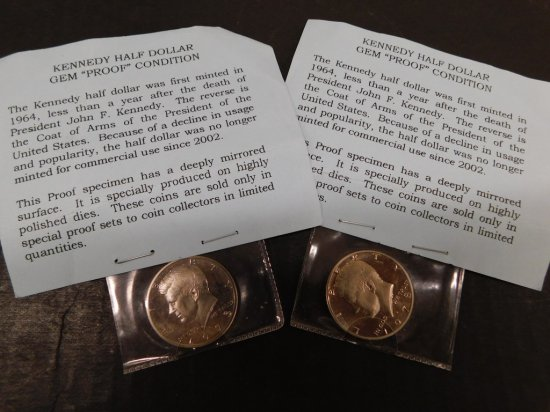(2) KENNEDY GEM PROOF HALF DOLLAR S