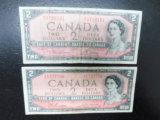 2 PACK OF OBSOLETE CANADIAN BILLS