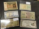 LOT OF 5 FOREIGN BILLS