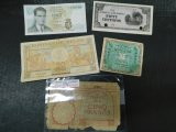 LOT OF 4 FOREIGN BILLS