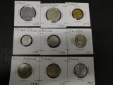(9) FOREIGN COINS
