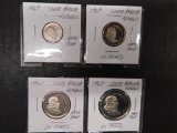 (4) 1969 SOUTH AFRICA REPUBLIC PROOF COINS