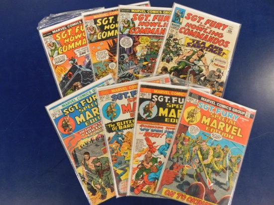 (8) VINTAGE MARVEL COMICS - SGT. FURY